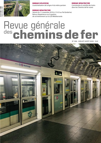 Revue Generale des Chemins de Fer - Issue 306 July 2020  표지
