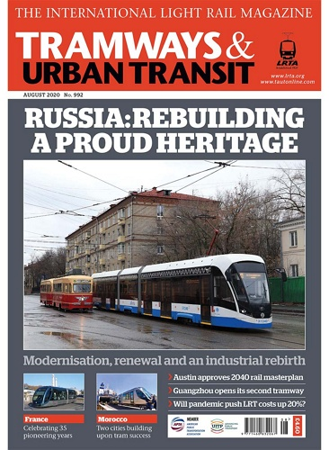 TRAMWAYS and URBAN TRANSIT - 992 August  2020 표지
