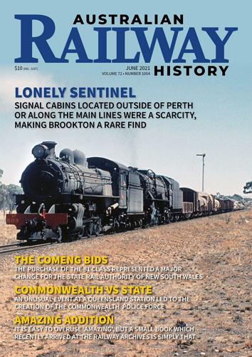 Australian Railway History - June 2021 Volume 72 No 1004 표지
