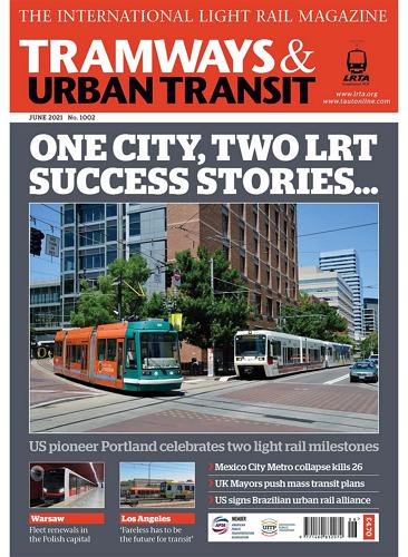 TRAMWAYS and URBAN TRANSIT - June 2021 표지