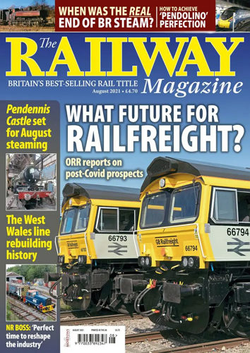 The Railway Magazine - AUGUST 2021 표지
