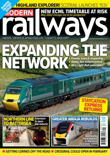 Modern Railways - September 2021 표지