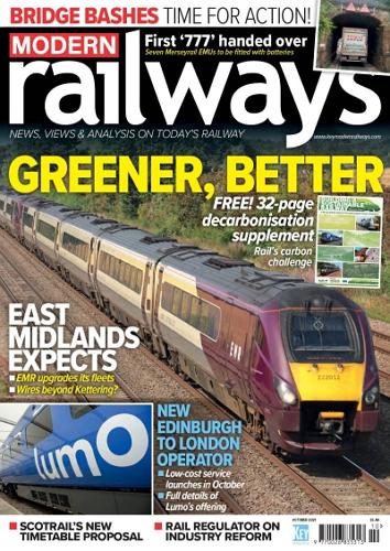 Modern Railways - October 2021 표지
